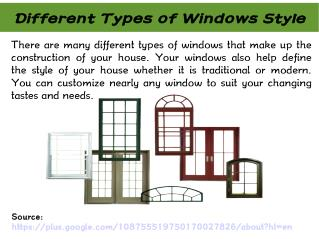 Different Types of Windows Styles