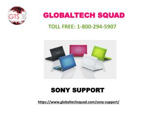 Sony Laptop Support Number I USA: 1-800-294-5907