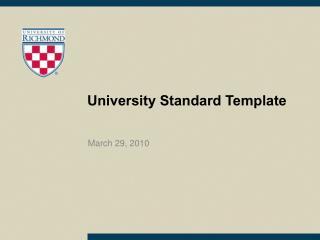 University Standard Template