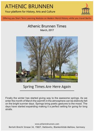 Get information on History of Germany & Berlin wall   Athenic Brunnen