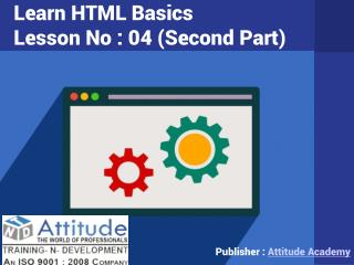 Learn Advanced and Basic HTML - Lesson 4 (ii)