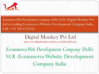 Ecommerce Web Development Company Delhi NCR- Ecommerce Website Development Company India