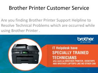 Brother Printer Not working? - Need Customer Support Number