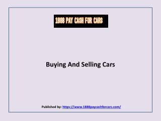 Buying And Selling Cars
