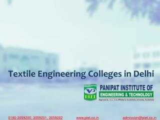 Textile Engineering Colleges in Delhi