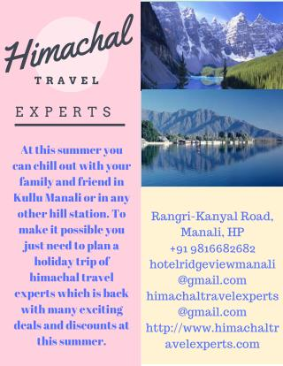 Budget Himachal Tour Packages
