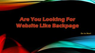 Website Similar to Backpage