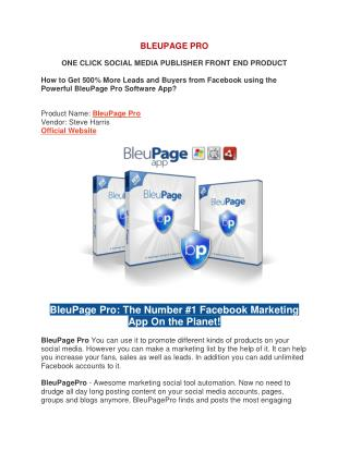 Bleupage pro review - awesome marketing social tool automation