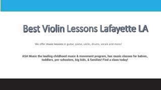 Violin Lessons Lafayette LA - Music Academy