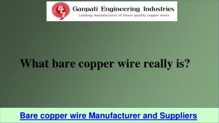 Bare copper wire Manufacturer and Suppliers
