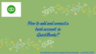 How to add and connect a bank account in QuickBooks?