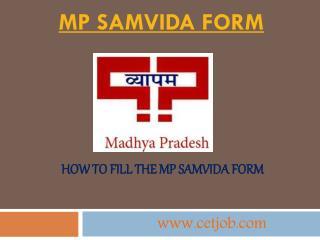 MP Samvida form: MP Samvida Shikshak Vacancy 2017