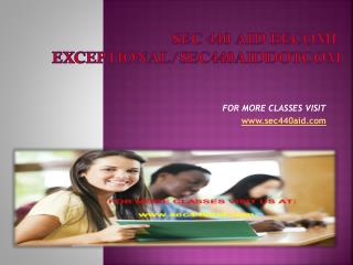 sec 440 aid Become Exceptional/sec440aiddotcom