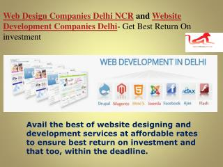 Web_Design_Companies_Delhi_NCR_and_Website_Development company