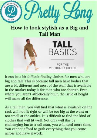 Shop Big and tall mens clothing