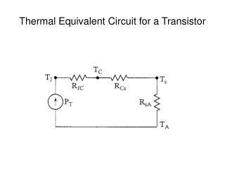 Thermal Equivalent Circuit for a Transistor