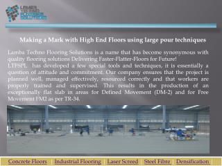 Laser Screed and Industrial Flooring