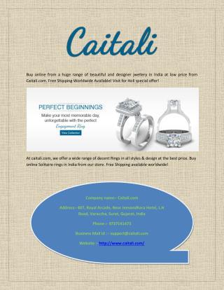 Buy Beautiful Designer Jewellery Online India at Best Price