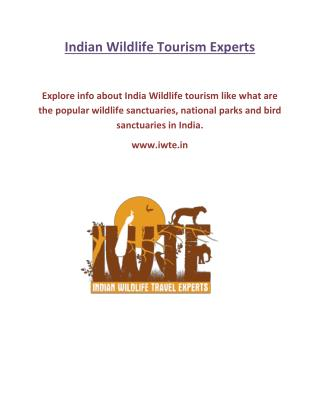 Indian Wildlife Tourism - www.iwte.in