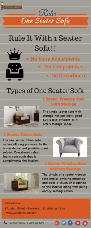 One seater sofa online : individualistic furniture