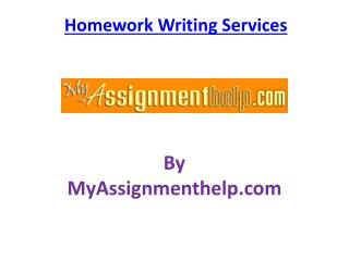 Get homework writing help to complete your homework with experts help