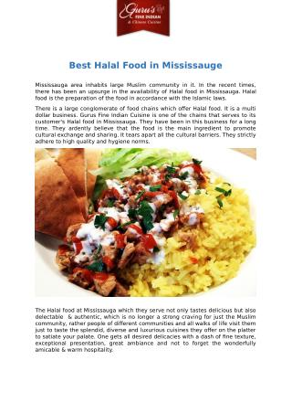 Best Halal Food in Mississauge
