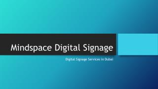 Digital Signage Services in Dubai