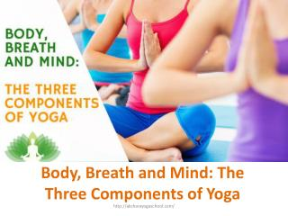 Body, Breath and Mind The Three Components of Yoga
