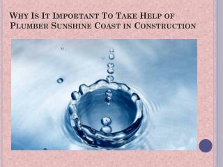 Plumber Sunshine Coast