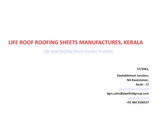 Life Roof Roofing Sheets Kerala Product Brochure