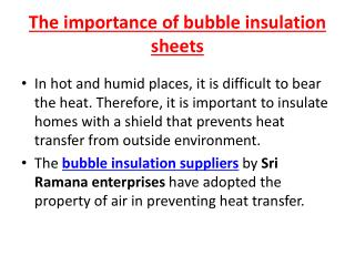 aluminium bubble insultation supplier in coimbatore