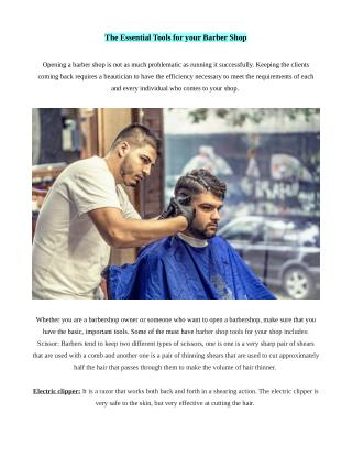 The Essential Tools for your Barber Shop