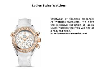 Ladies Swiss Watches