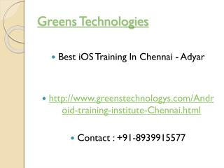 Ios training in Chennai -8939915577