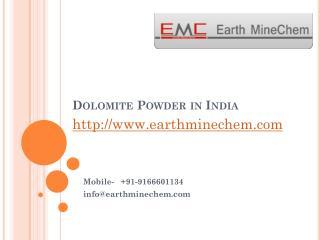 Dolomite powder in India