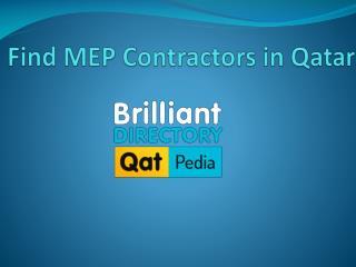 Find MEP Contractors in Qatar