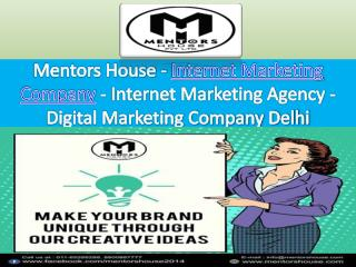 Digital Marketing Company Delhi- MentorsHouse