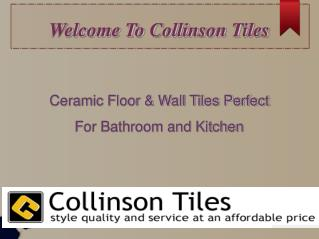 Ceramic Floor & Wall Tiles Perfect For Bathroom and Kitchen