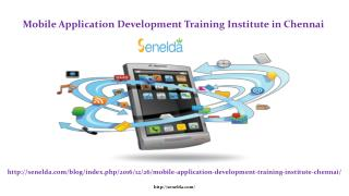 Mobile Application Development Training Institute in Chennai