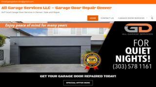 Garage Door Panels Replacement Denver