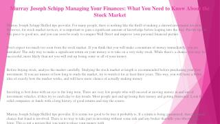 Murray Joseph Schipp Using Online Marketing Tactics for Your Products and Services