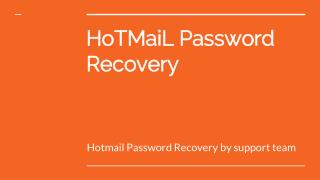 How to reset a Hotmail password step by step?