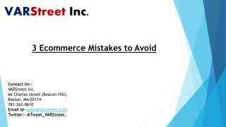 3 Ecommerce Mistakes to Avoid