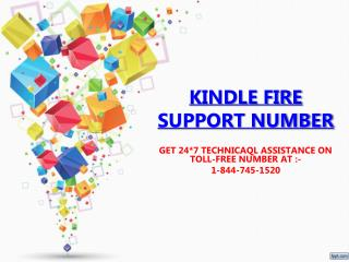 kindle Customer Care 1-844-745-1520