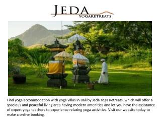 Contact Jeda Yoga Retreats to Book Yoga accommodation in North Bali