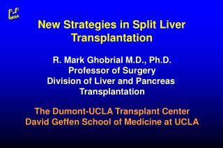 New Strategies in Split Liver Transplantation