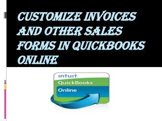 Customize invoices and other sales forms In QuickBooks Online