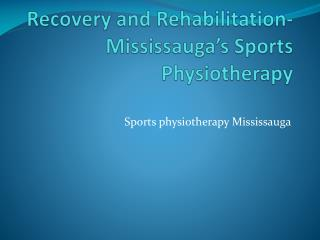 Treatment or Guidance for a Sport-related Injury- Mississauga Physiotherapy