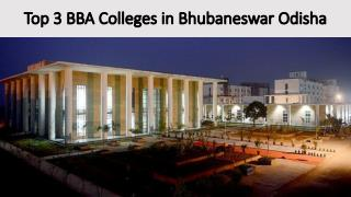 Top 3 BBA Colleges in Bhubaneswar Odisha