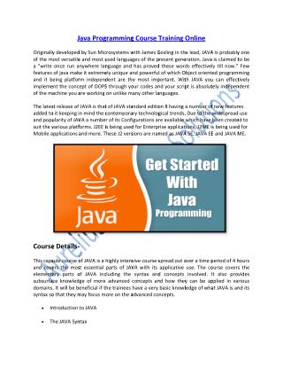 Boost your Career on Java Programming Language